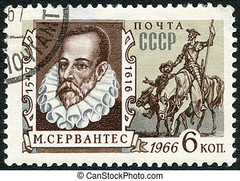 USSR - CIRCA 1966: A stamp printed in USSR shows portrait of...