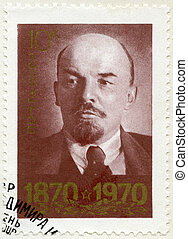 USSR - CIRCA 1970: A stamp printed in USSR shows portrait of Vladimir Ilyich Lenin (1870-1924), circa 1970