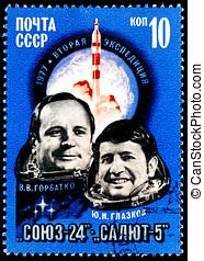 Portrait of Astronauts V.Gorbatko, U.Glazkov