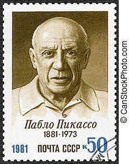 USSR - CIRCA 1981: A stamp printed in USSR shows Birth Centenary of Pablo Picasso (1881-1973), artist, circa 1981