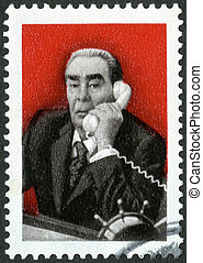 USSR - CIRCA 1981: A stamp printed in USSR shows Leonid ...