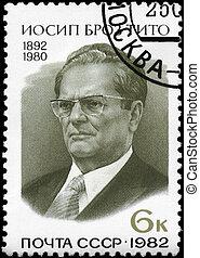 USSR - CIRCA 1982 Marshal Tito - USSR - CIRCA 1982: A Stamp...