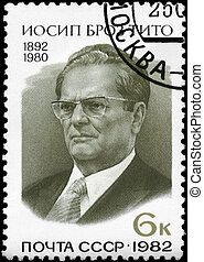 USSR - CIRCA 1982 Marshal Tito - USSR - CIRCA 1982: A Stamp...