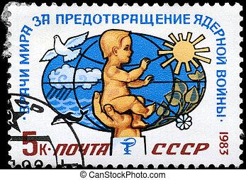 USSR - CIRCA 1983 Peace