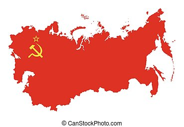 USSR Map silhouette