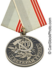 ussr, medalj, av, arbete