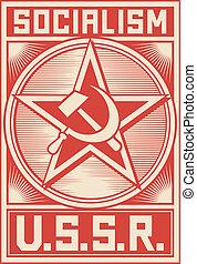 ussr poster (soviet poster, socialism poster)