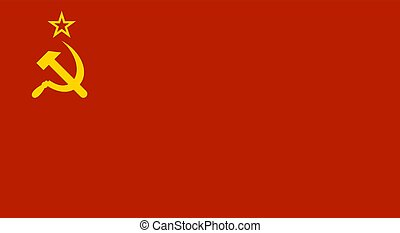 Ussr Red Soviet Union Flag. Vector