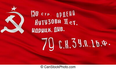Ussr War Victory Flag Closeup Seamless Loop - Ussr War...