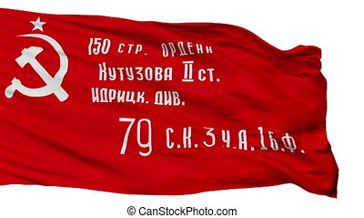 Ussr War Victory Flag Isolated Seamless Loop - Ussr War...