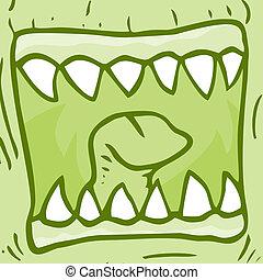usta, potwór