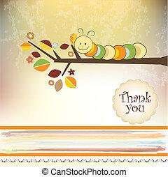 usted, agradecer, tarjeta