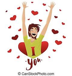 usted, amor, informes, hombre