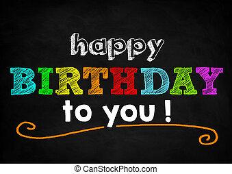 usted, cumpleaños, feliz