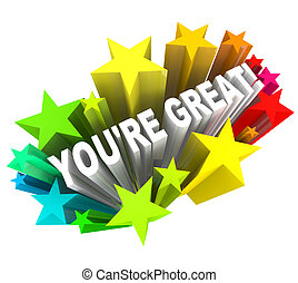 usted es, grande, alabanza, éxito, -, palabras