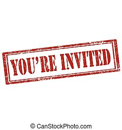 usted es, invited-stamp