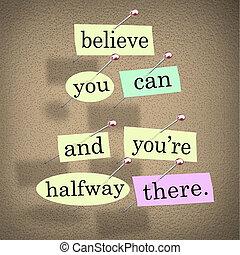usted es, refrán, cita, allí, lata, palabras, usted, creer, a medio camino