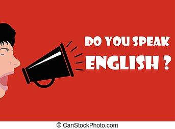 usted, hablar, inglés
