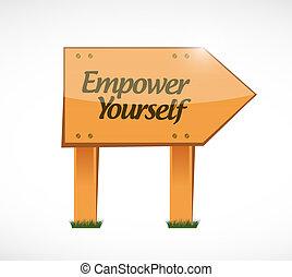 usted mismo, madera, autorizar, concepto, señal