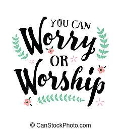 usted, o, adoración, preocupación, lata
