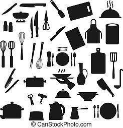 ustensiles, coutellerie, kitchenware, cuisine, cuisine