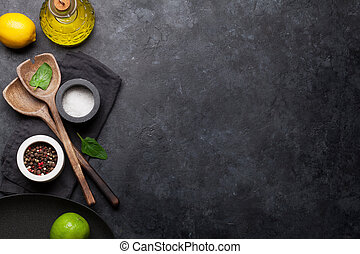 ustensiles, cuisine, épices