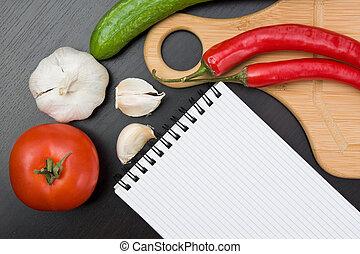 ustensiles, légumes, cuisine