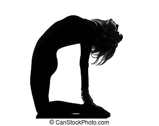 ustrasana camel pose yoga woman
