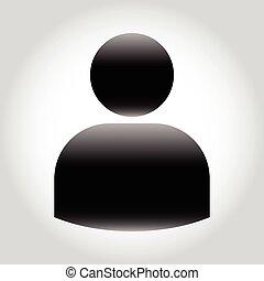 usuario, icono, vector