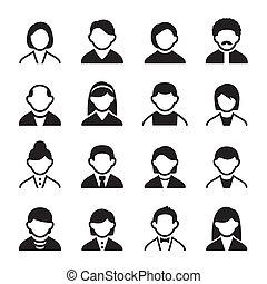 usuario, iconos, conjunto, 3