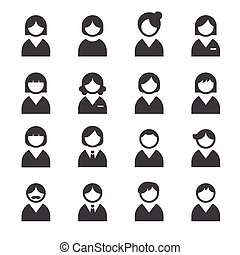 usuario, iconos