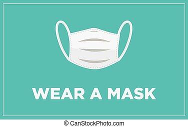 usure, masque, bannière