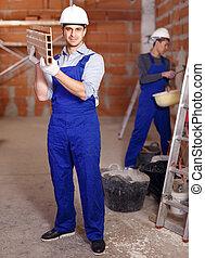 usure, travail, constructeurs, deux