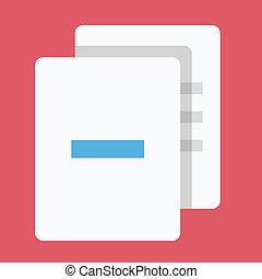 usuwać, wektor, dokumenty, ikona