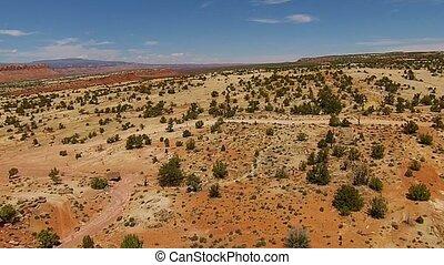 Utah Desert Landscape Winding Roads Giant boulders - Utah...