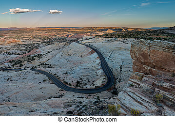 Scenic Byway Utah Route 12 Escalante to Boulder and The Hogback View from Head of the Rocks Overlook