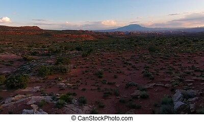 Utah Landscape at Sunset Aerial