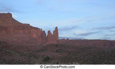 Utah Landscape at Sunset - Route 128 near Moab Utah at...