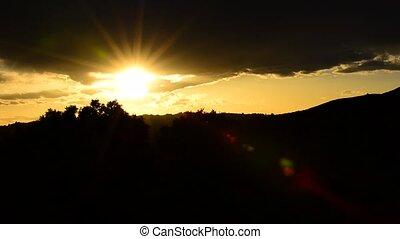 Utah Landscape at Sunset slow pan