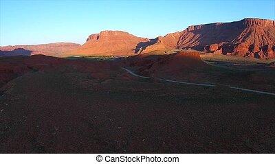Utah Landscape Route 128 Sunrise - Fisher Towers La Sal...