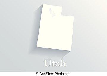 Utah map logo