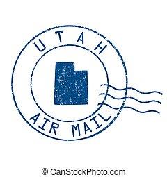 Utah post office, air mail stamp