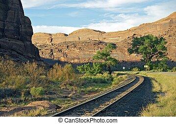 Utah Railroad and Road near Moab, Utah. Utah Photo ...