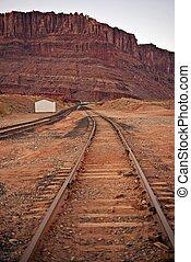 Utah Railways USA - Railway Tracks in Southern Utah State, ...
