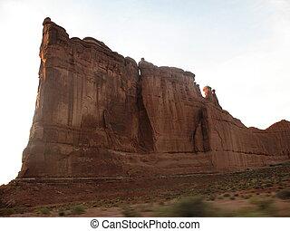 Utah Sandstone Cliff - Sandstone cliff in Utah