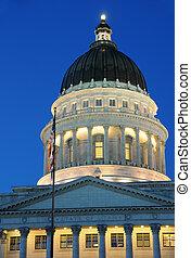 Utah State Capitol at Sunset