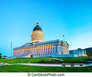 Utah state capitol building in Salt Lake City