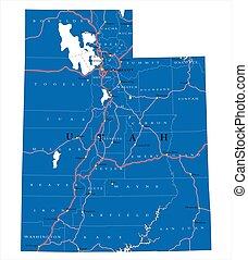 Utah state political map