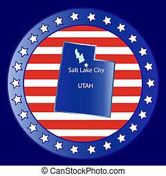 Utah state seal stamp usa