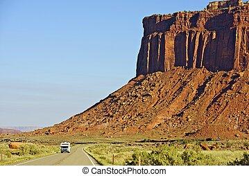 Utah Trip. RV Trip Thru Scenic Utah Canyonlands. Southern...